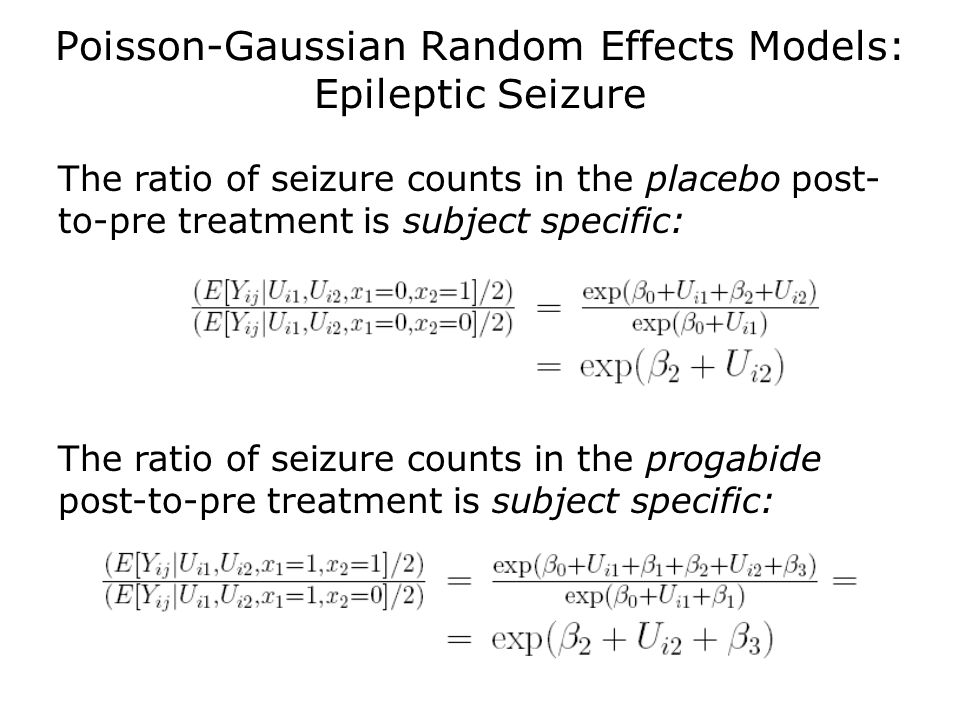 Poisson-Gaussian Random Effects Models: Epileptic Seizure