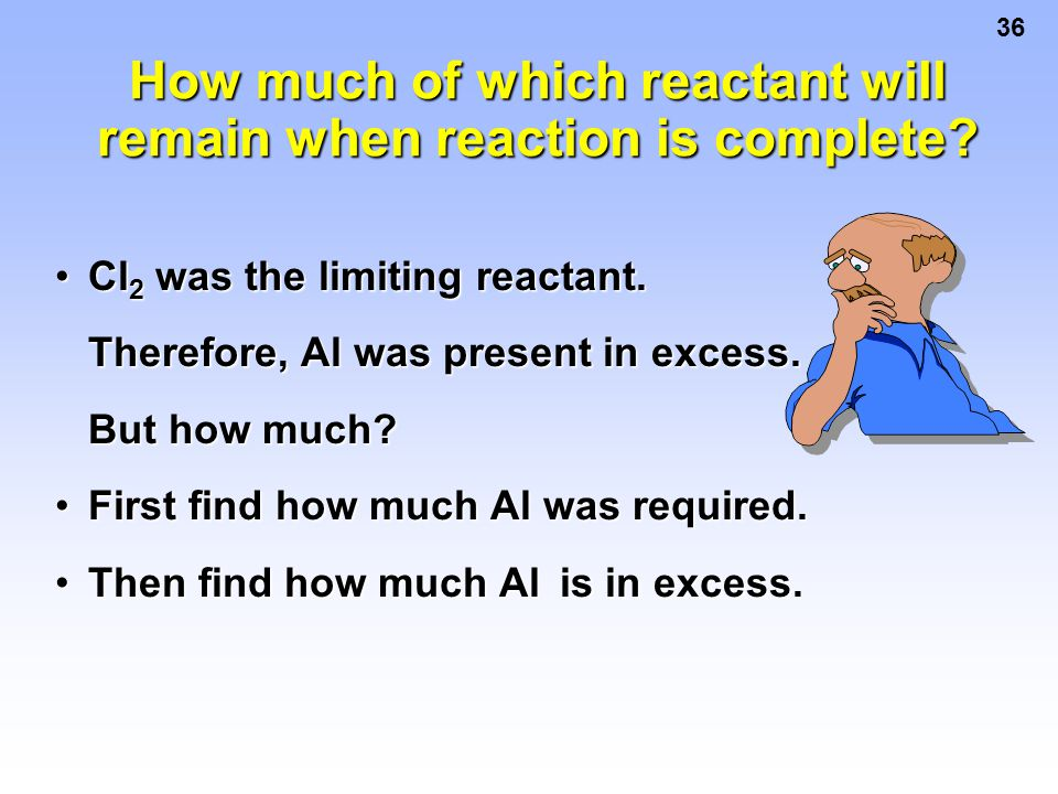How much of which reactant will remain when reaction is complete