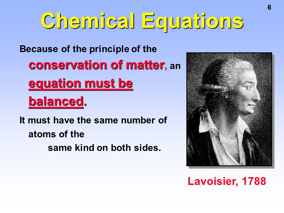 Chemical Equations Lavoisier, 1788
