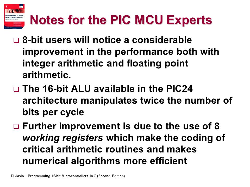 Notes for the PIC MCU Experts