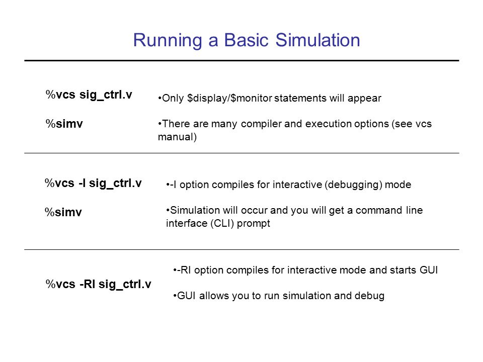 Running a Basic Simulation