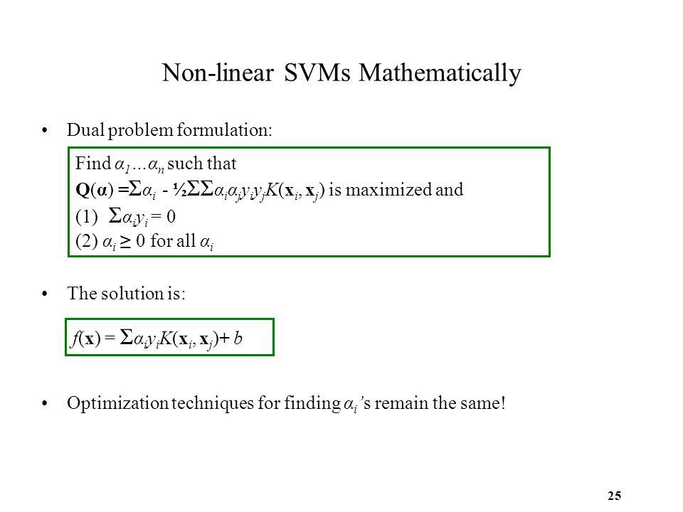 Non-linear SVMs Mathematically