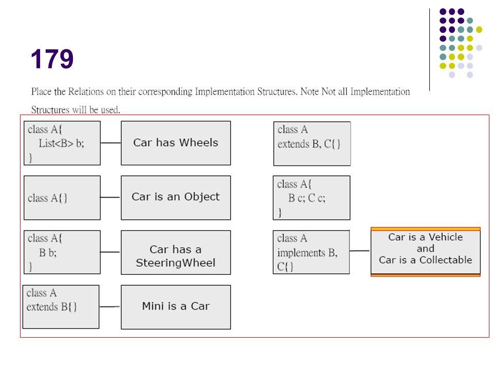 179 Wheels為複數,表示是用集合型態物件來表示擁有多個其他物件關係