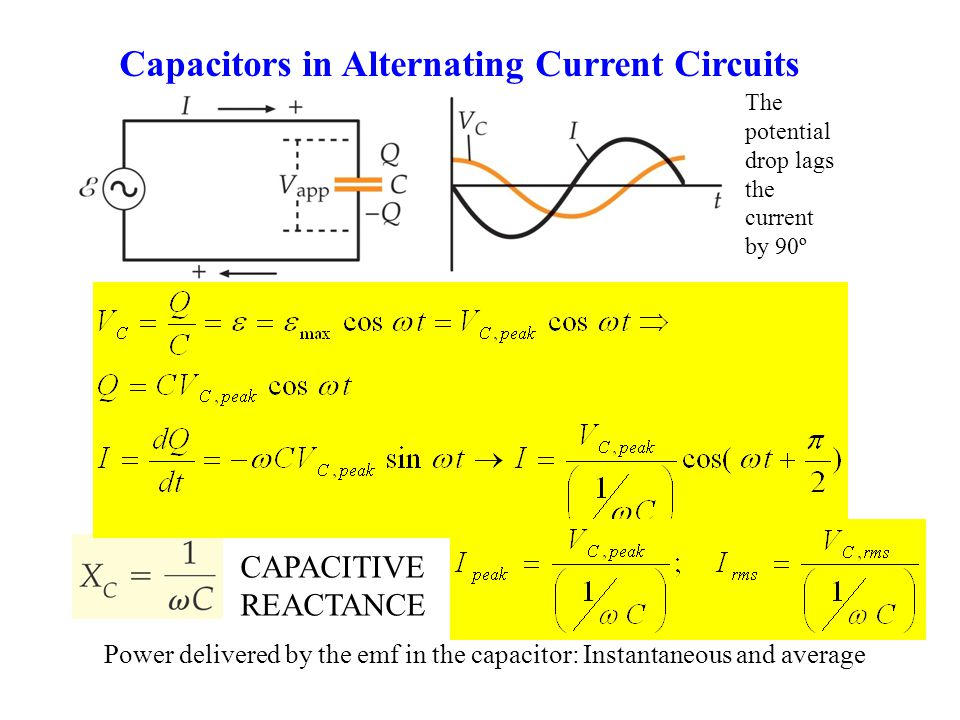 Capacitors in Alternating Current Circuits