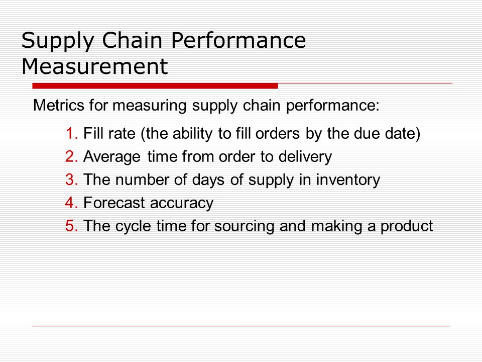 supply chain metrics Supply chain metrics douglas m lambert the ohio state university and university of north florida terrance l pohlen university of north florida most discussions and articles about supply chain.