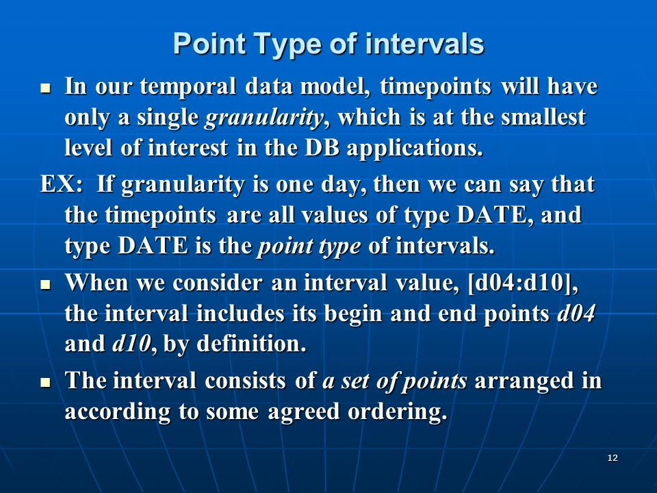 Point Type of intervals