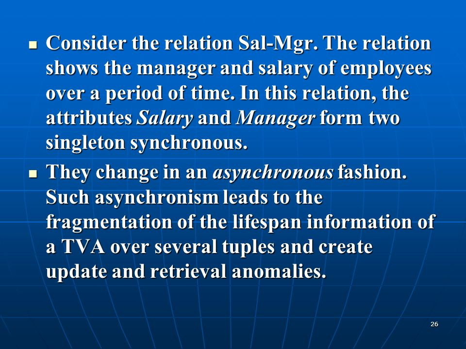 Consider the relation Sal-Mgr