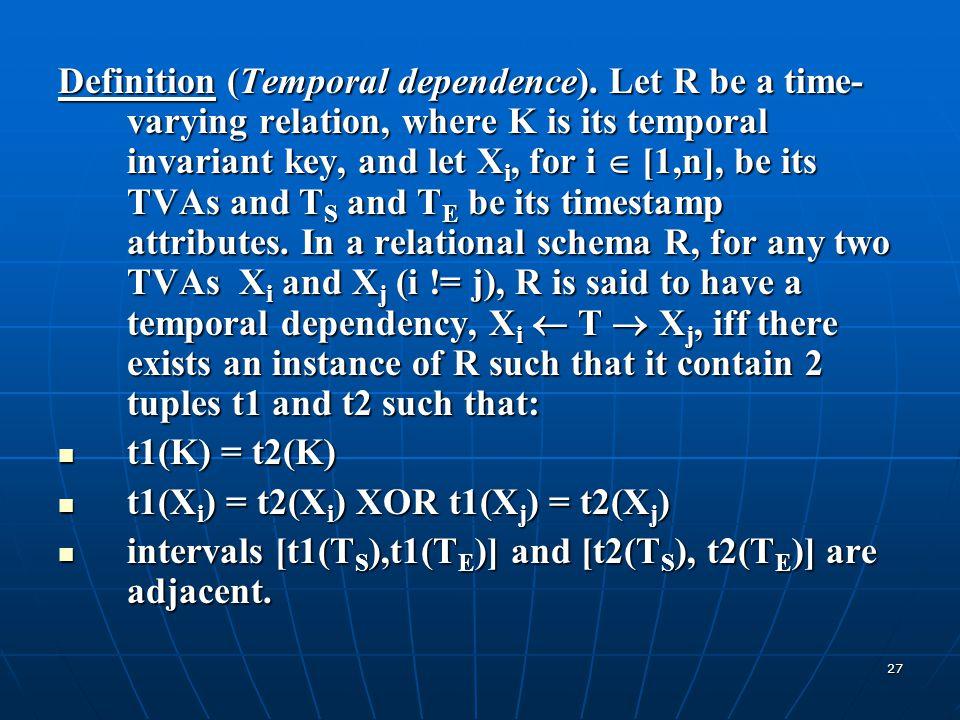 Definition (Temporal dependence)