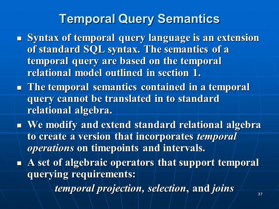 Temporal Query Semantics