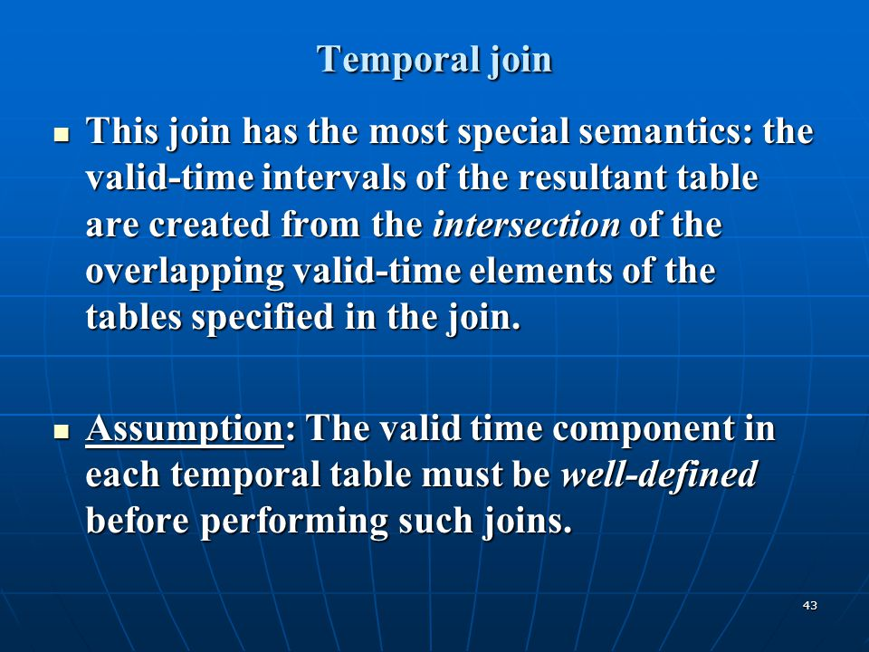 Temporal join