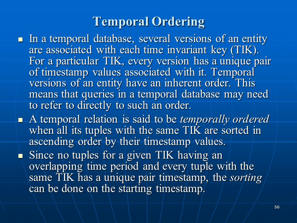 Temporal Ordering