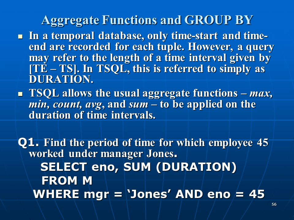 Aggregate Functions and GROUP BY