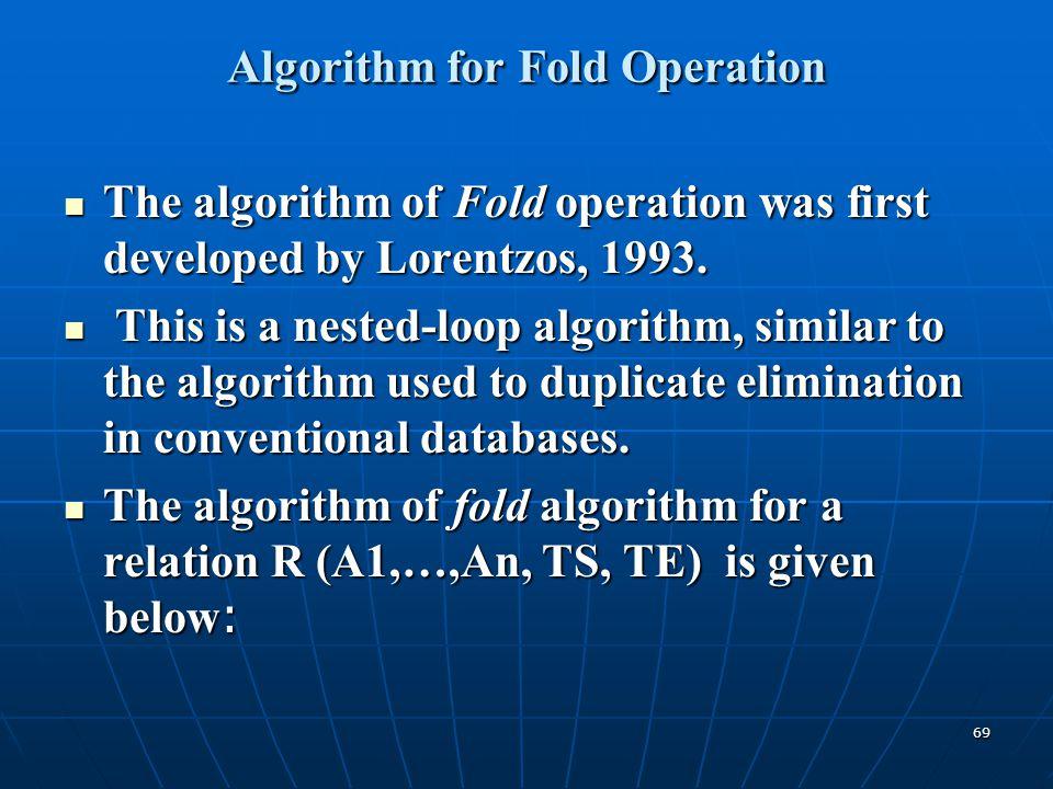 Algorithm for Fold Operation