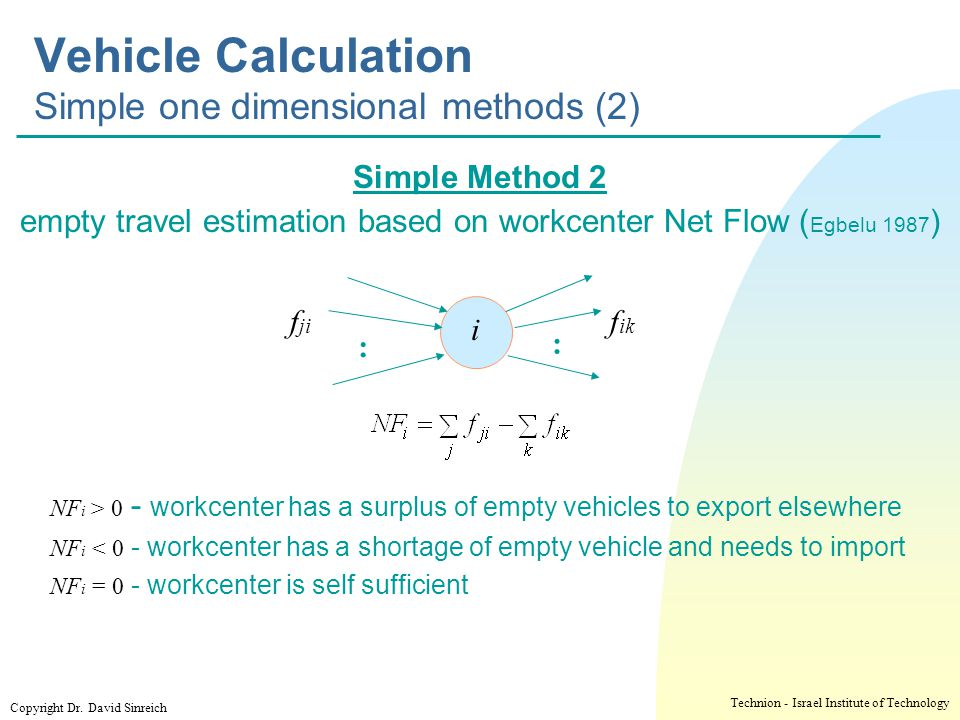 Vehicle Calculation Simple one dimensional methods (2)