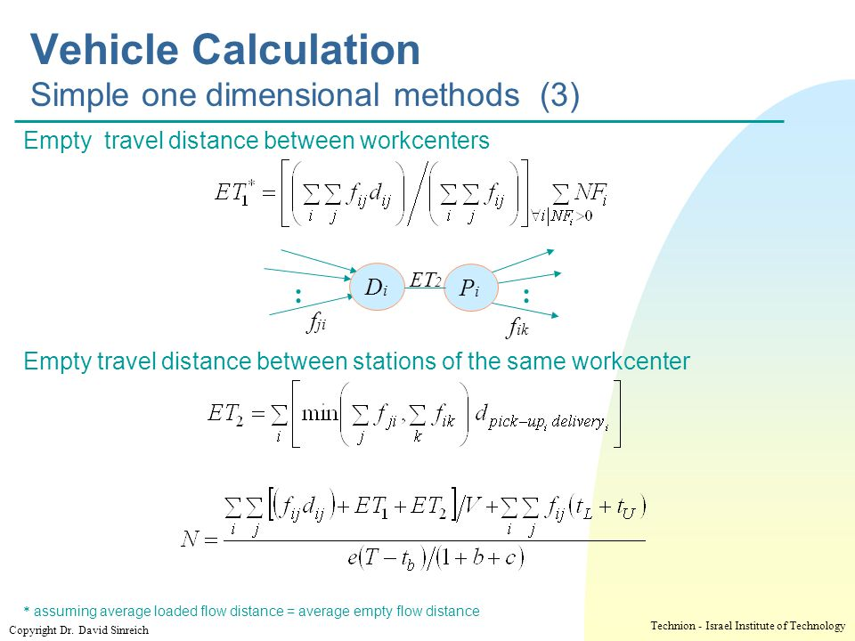 Vehicle Calculation Simple one dimensional methods (3)