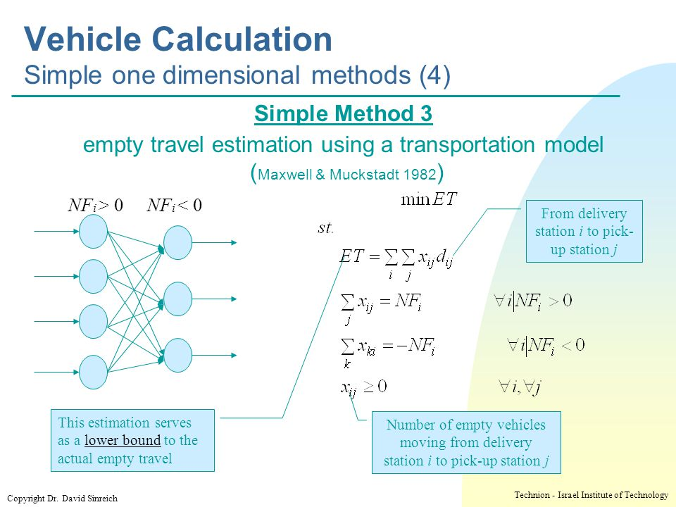 Vehicle Calculation Simple one dimensional methods (4)