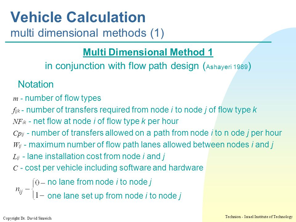 Vehicle Calculation multi dimensional methods (1)
