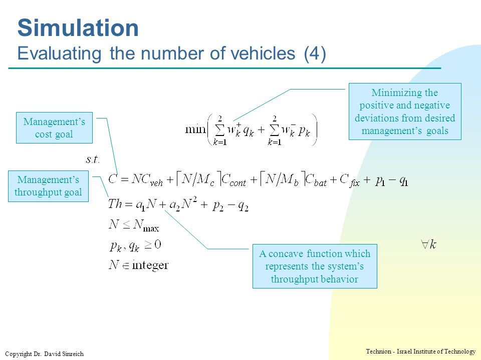 Simulation Evaluating the number of vehicles (4)