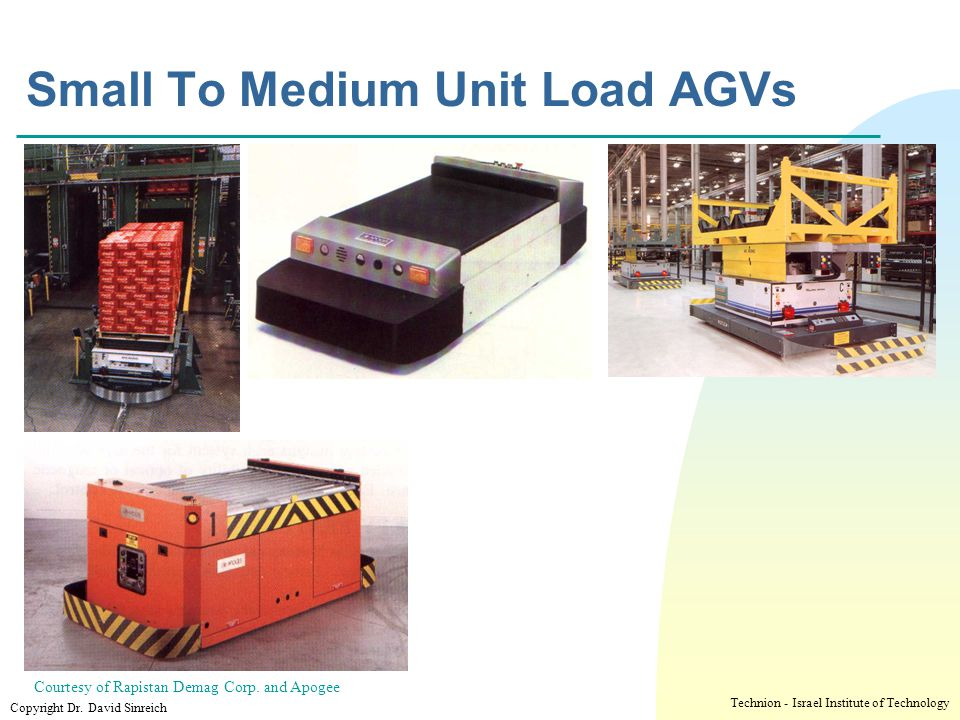 Small To Medium Unit Load AGVs