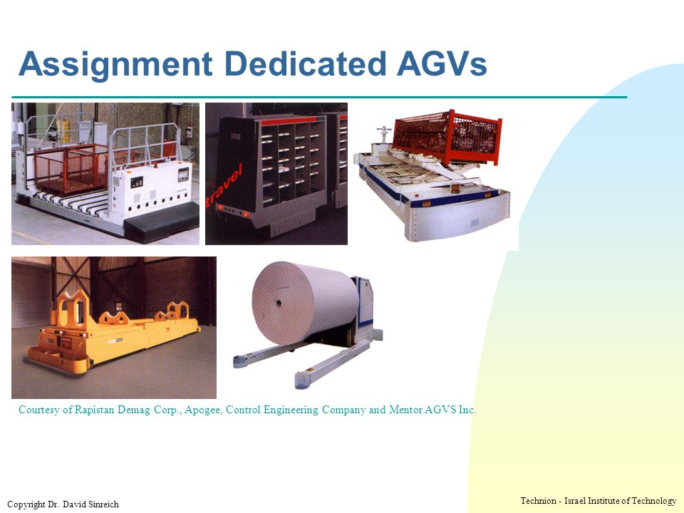 Assignment Dedicated AGVs