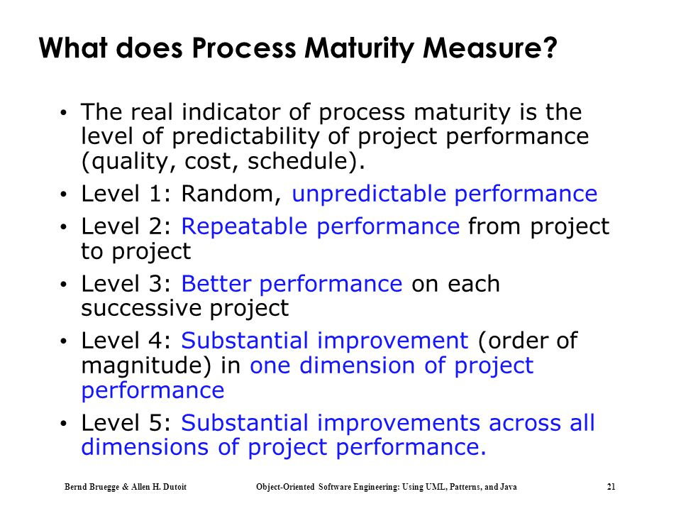 What does Process Maturity Measure