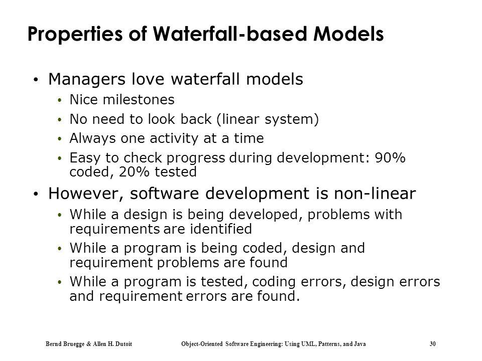 Properties of Waterfall-based Models