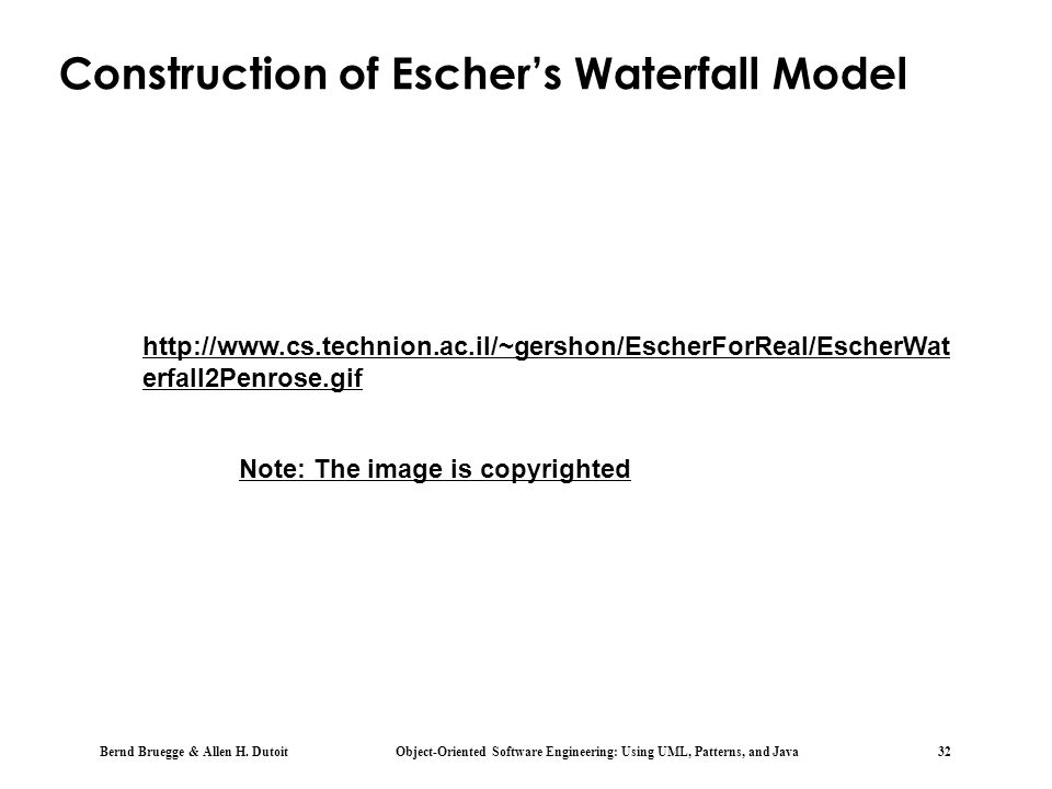 Construction of Escher's Waterfall Model