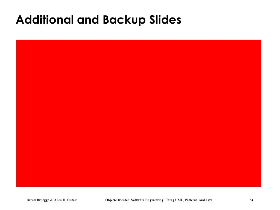 Additional and Backup Slides