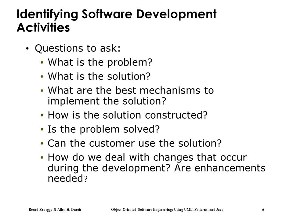 Identifying Software Development Activities