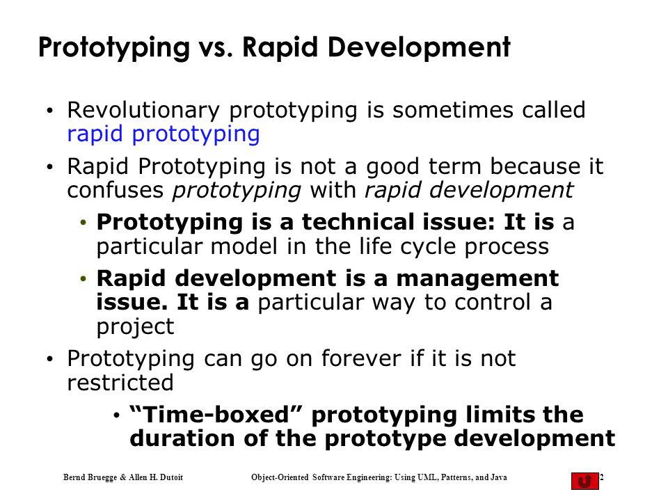 Prototyping vs. Rapid Development