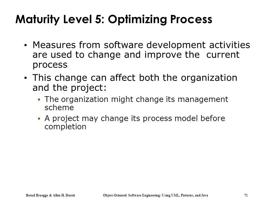 Maturity Level 5: Optimizing Process