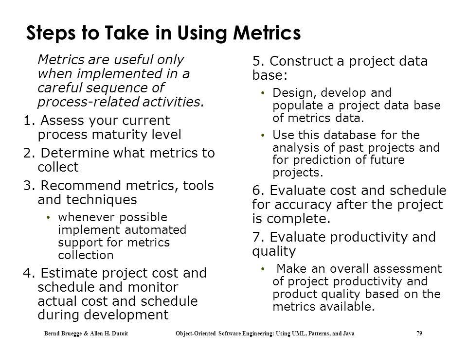Steps to Take in Using Metrics