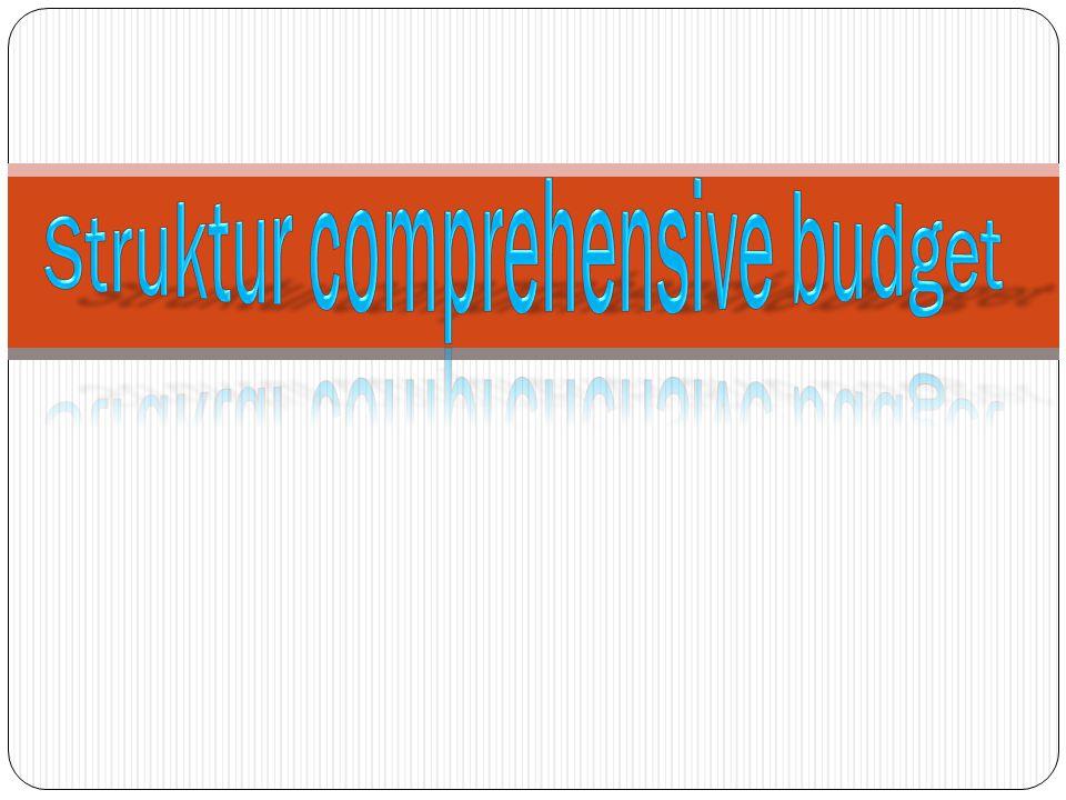 Struktur comprehensive budget
