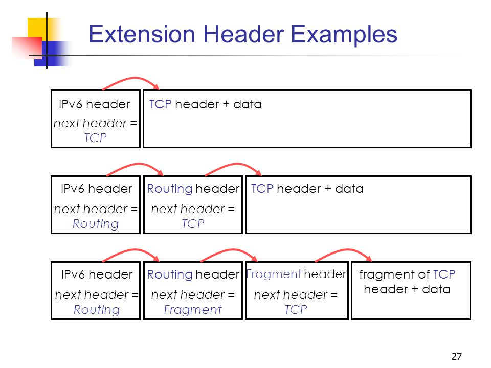 Extension Header Examples