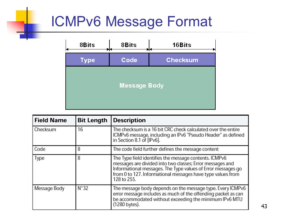 ICMPv6 Message Format