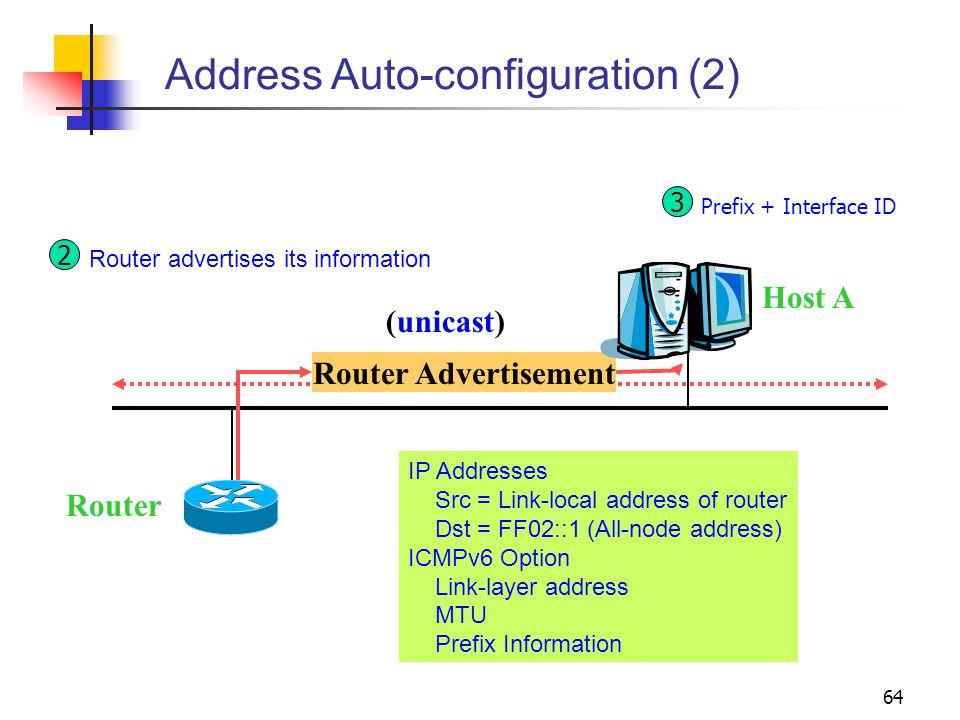 Address Auto-configuration (2)
