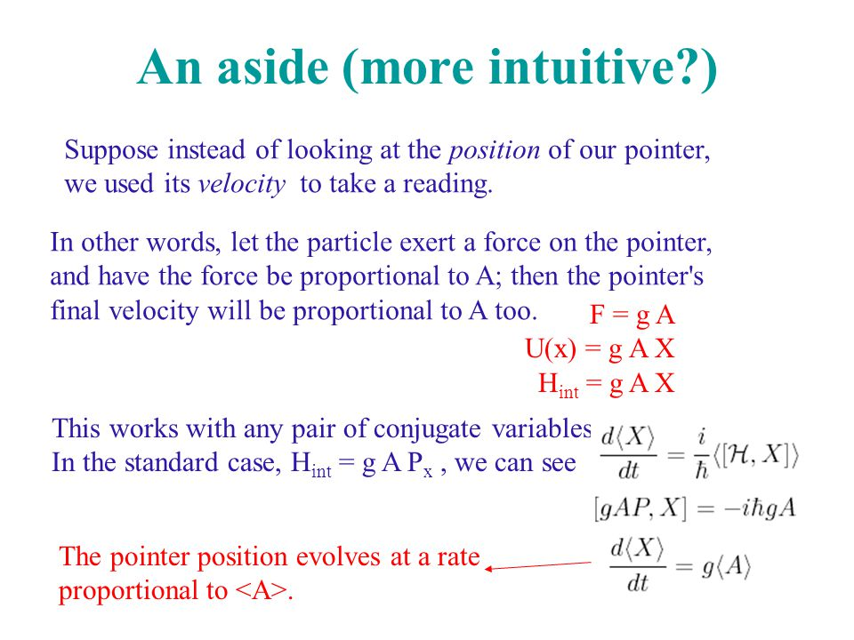 An aside (more intuitive )