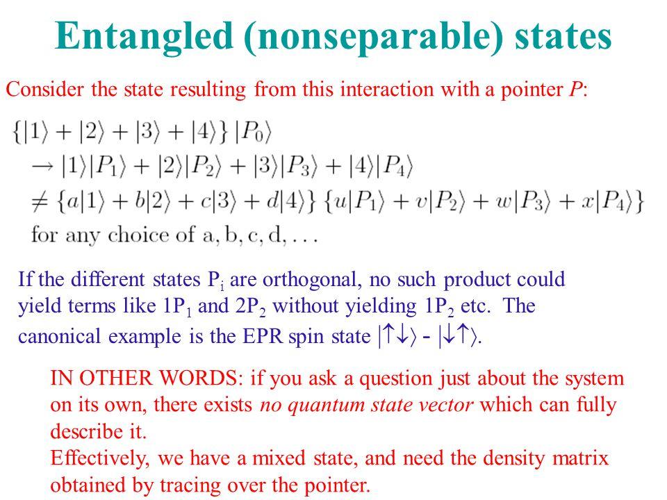 Entangled (nonseparable) states