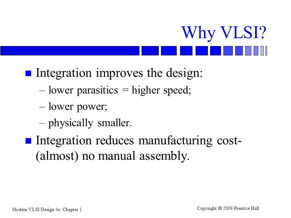 Why VLSI Integration improves the design: