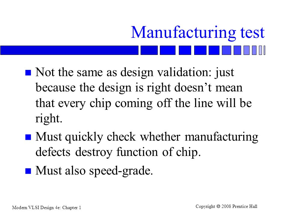 Manufacturing test