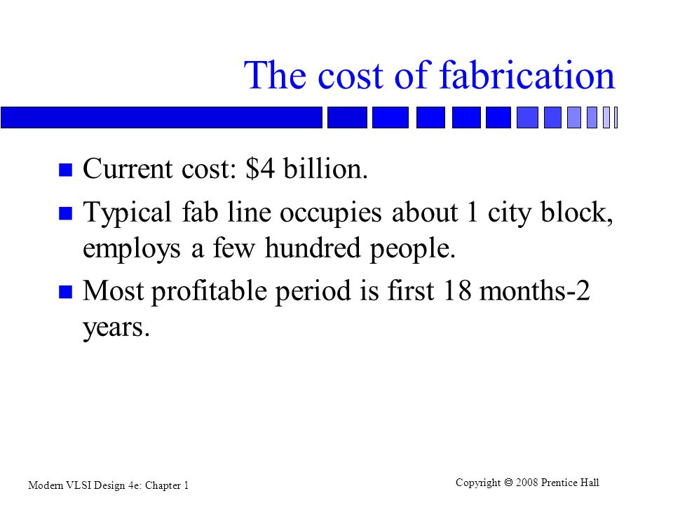 The cost of fabrication