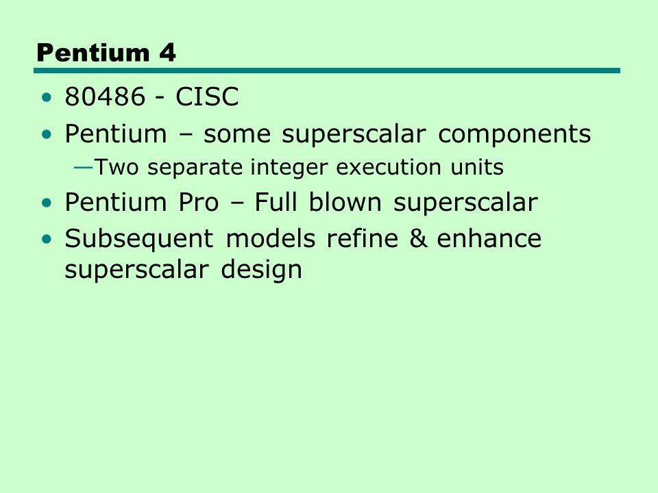 Pentium – some superscalar components