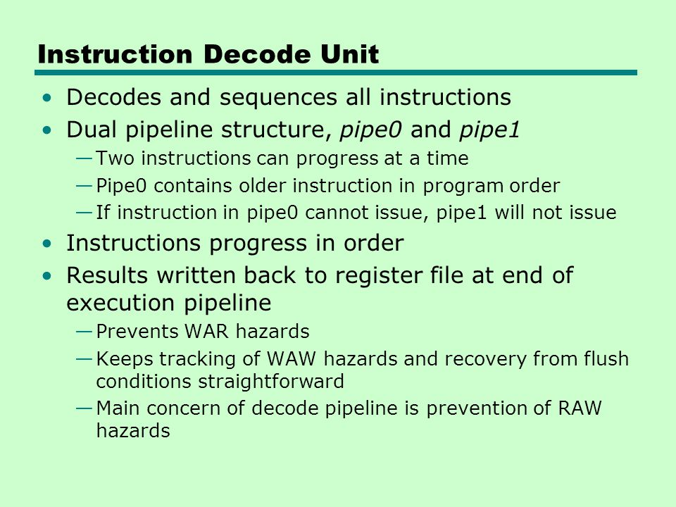 Instruction Decode Unit