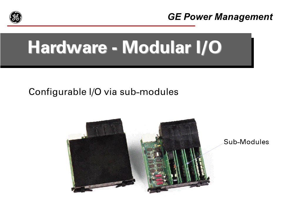 g Hardware - Modular I/O GE Power Management