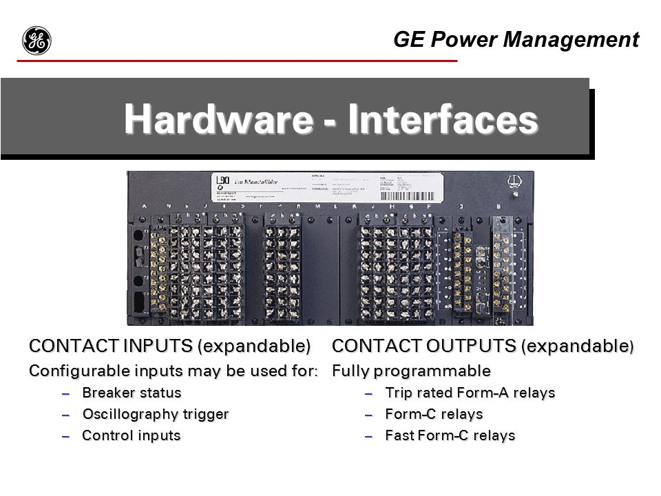 g Hardware - Interfaces GE Power Management