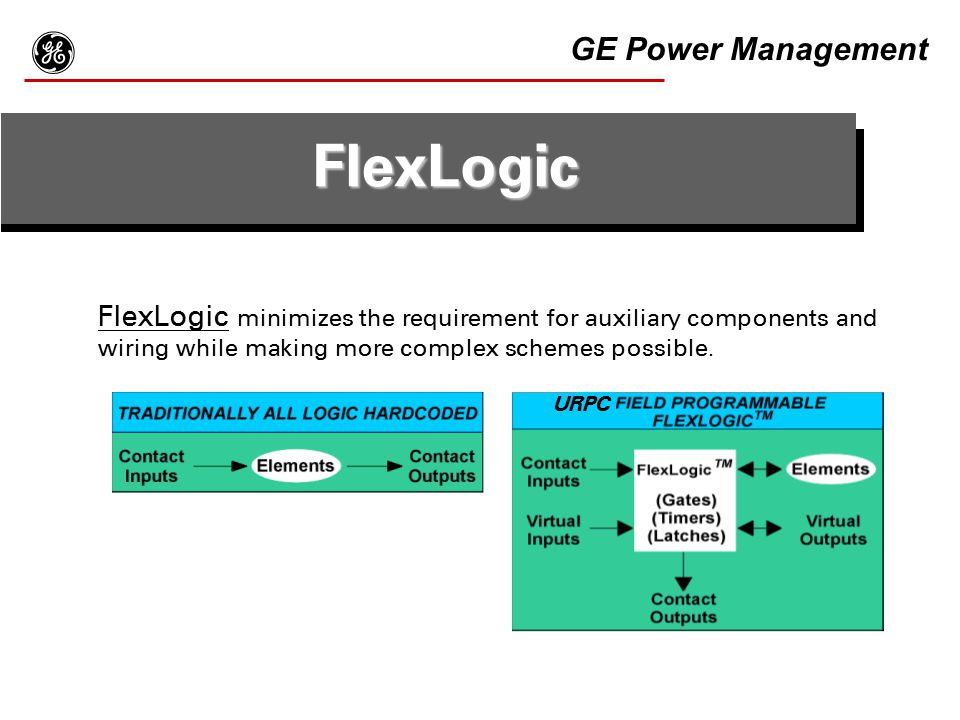 g FlexLogic GE Power Management