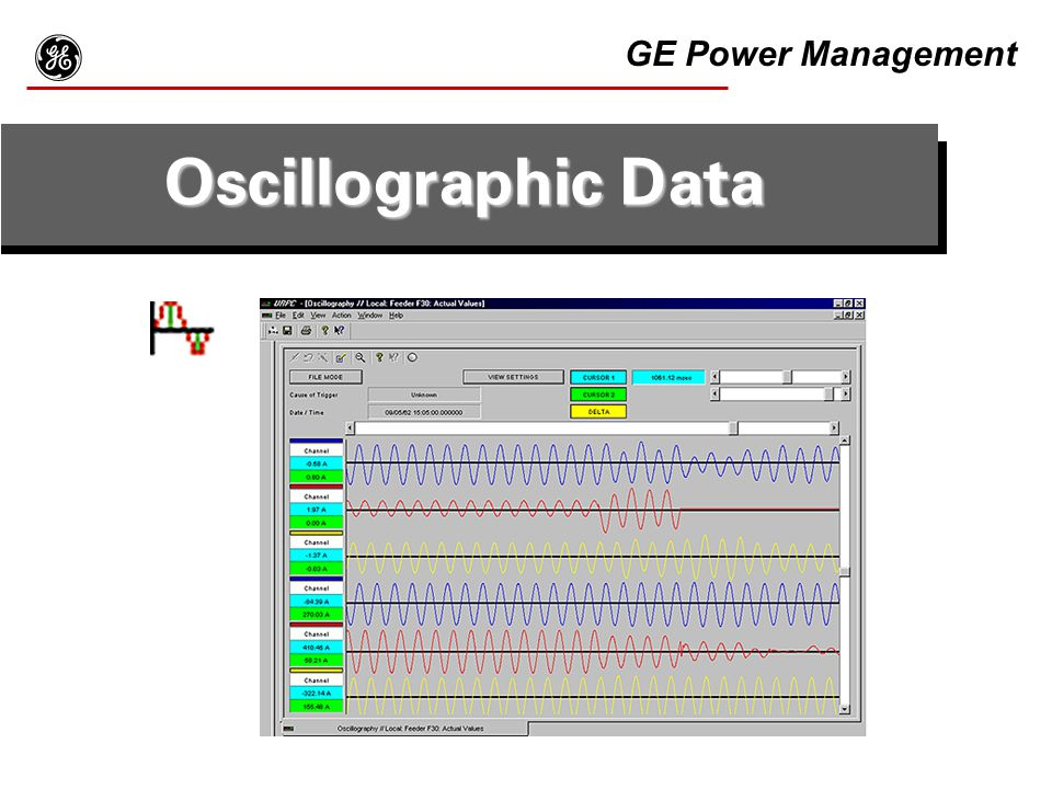g Oscillographic Data GE Power Management