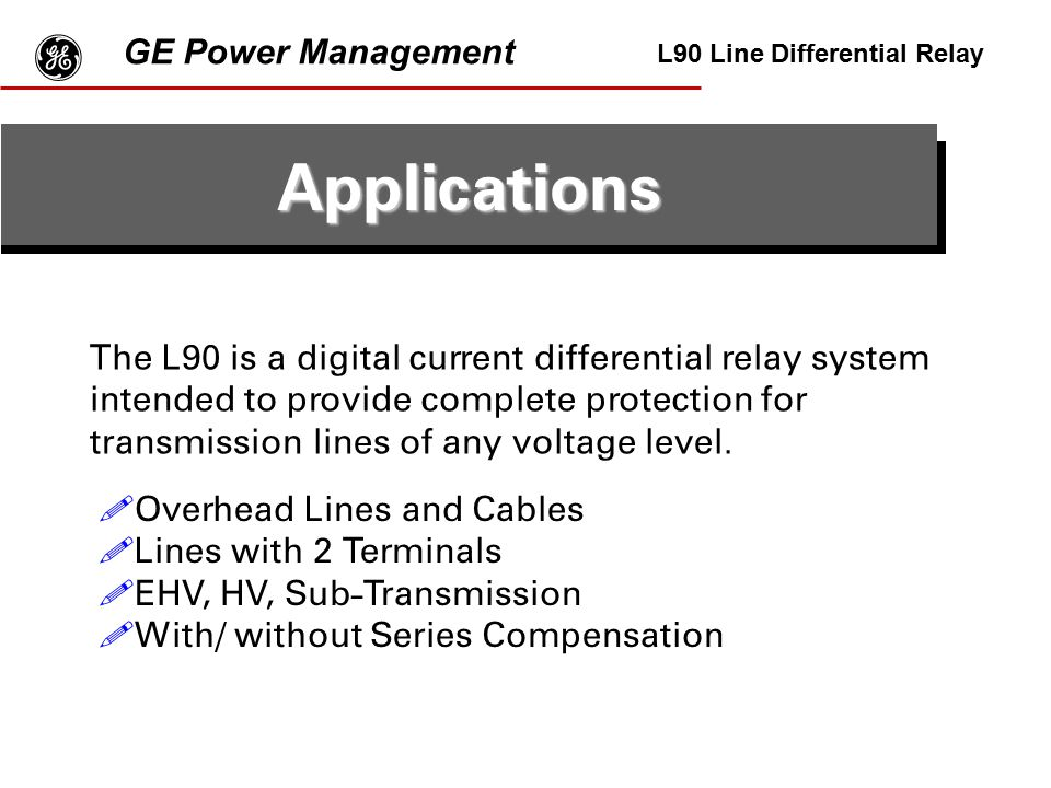 g Applications GE Power Management