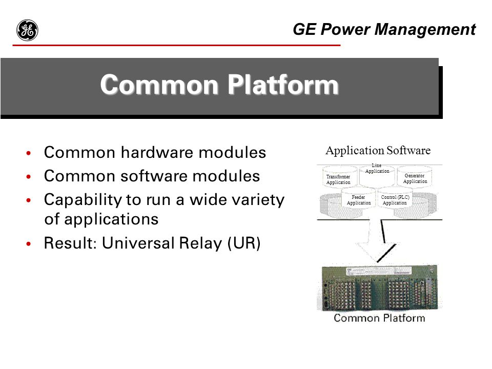 g Common Platform GE Power Management Common hardware modules