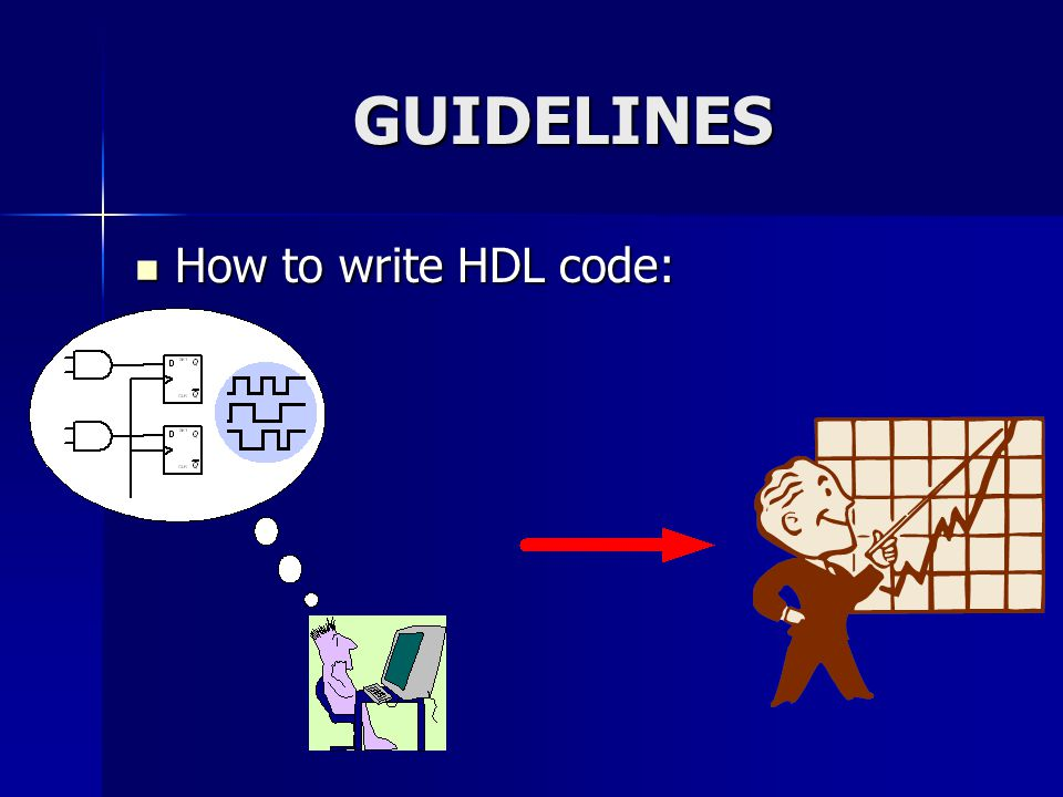 GUIDELINES How to write HDL code: